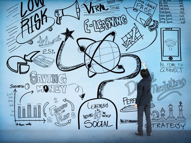 conceito de doodle de desenho de esboco de educacao de aprendizagem 53876 64977 - Empreendedorismo Digital Os Primeiro Passo Para Começar Hoje Mesmo