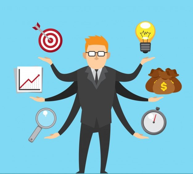 conceito de gerenciamento de projetos com empresario 23 2147781673 e1562873050699 - Como Ter Mais Foco 5 Dicas Para Ajudar a Realizar Seus Objetivos