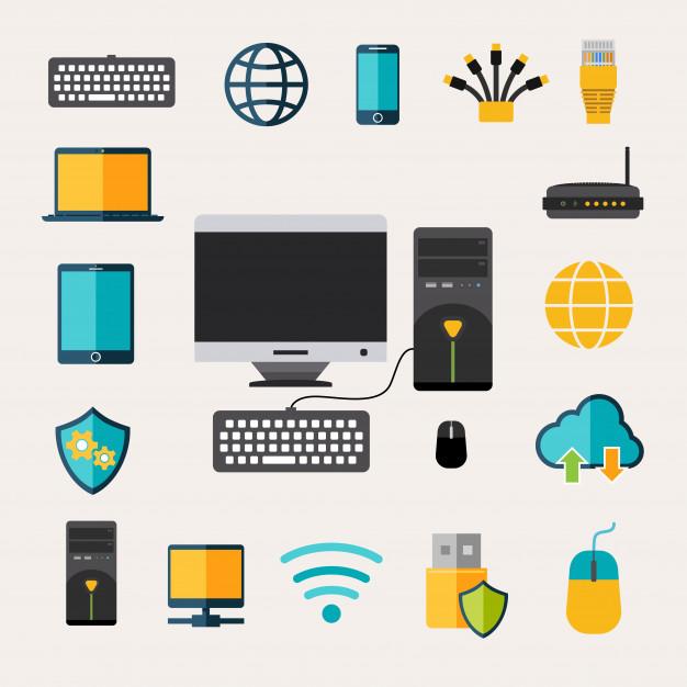 conjunto de gadgets de rede 1284 10695 - Empreendedorismo Digital Os Primeiro Passo Para Começar Hoje Mesmo