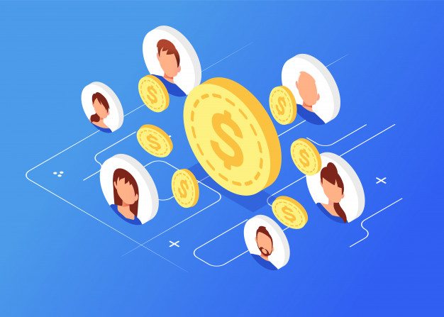 moedas de dinheiro isometrica com avatares marketing de rede 68196 1381 - Como Criar Blog Profissional em WordPress e Fazer Vendas Online