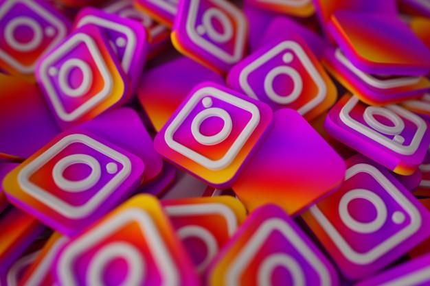 pilha de 3d instagram logos 1379 876 - Vendas Pelo Instagram em 5 Passos