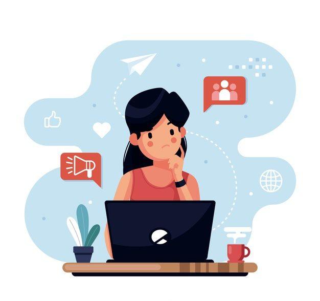 personagem de design plano pensando com elementos em torno 23 2148270055 e1569946711955 - Marketing Afiliados Como Começar Em 07 Passos Simples